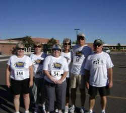 Farmers 5K - left to right: Jane Cromwell Mastrini, Susan Richardson, Kathy Lotito Voorhees, Pam Mitchell Zinanti, Dave