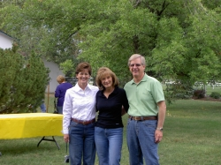 Judy Kifer DeCook, Terri Travis Jarvi, and Ken Jarvi