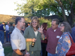 Bob Weaver, Honoria Niehaus at our 40th Reunion Farmers Barn