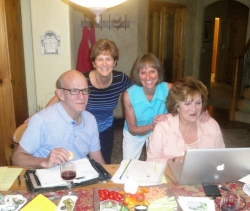 Reunion Committee Members:  Bob Knott, Judy Kifer DeCook, Dianne Corbetta Connolly, Kay Dwyer Rees, July 2015