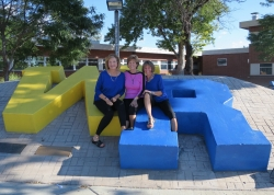 Wheat Ridge High School Tour: Kay Dwyer Rees, Judy Kifer DeCook, Dianne Corbetta Connolly