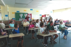 In the classroom at Wheat Ridge High School Tour